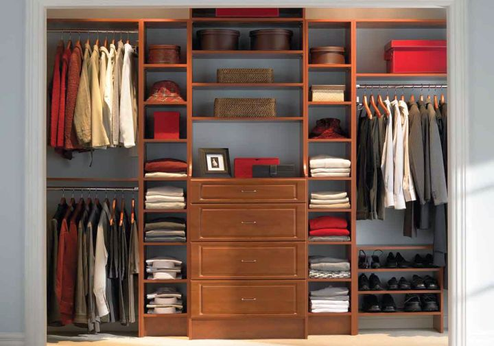 simple walk in closet furniture