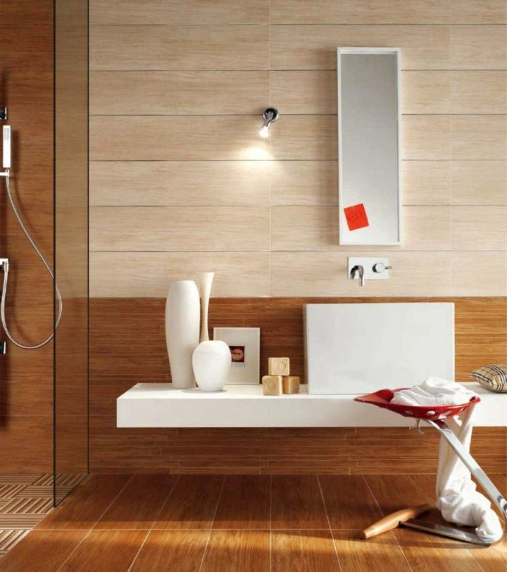 simple wood bathroom