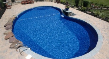 small and simple kidney shape pool