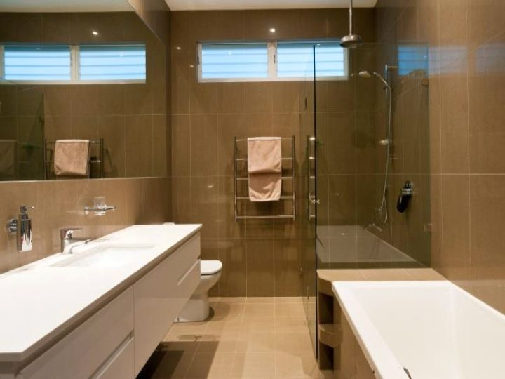 small brown bathrooms