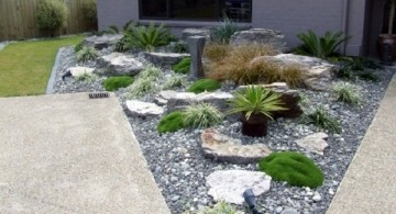 small rock garden designs pointy end