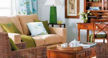 small sitting room ideas with wicker chairs