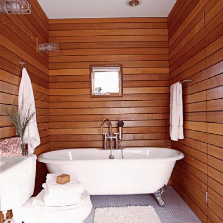 small wood bathroom