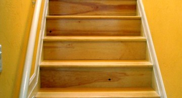small wood staircase for basement