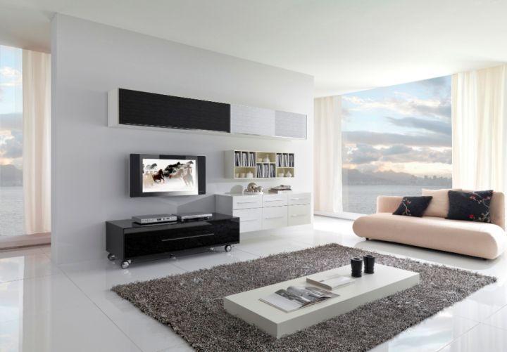 spacious simple living room