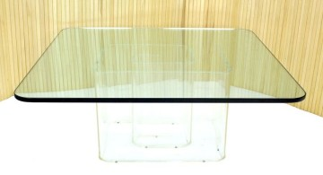 square lucite coffee table single stand