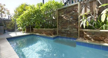 stone wall for pool waterfall ideas