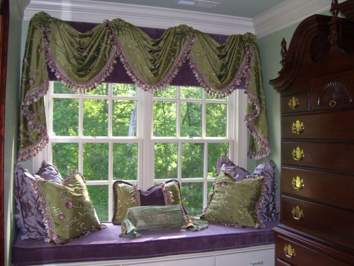 Bay Window Treatments Dining Decorating Ideas