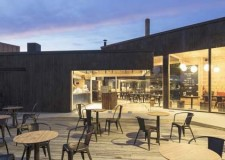 the cozy outdoor space of Cafe Birgitta