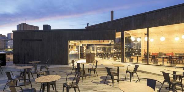 Semi outdoor and open cafe birgitta helsinki finland for Semi open spaces