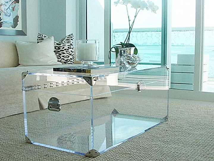 transparent trunk coffee table
