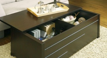 trunk coffee table with slide top
