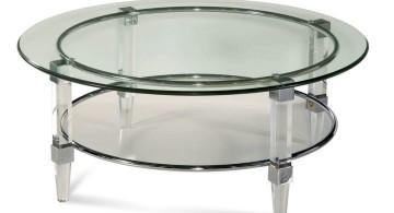 tube like acrylic cocktail table