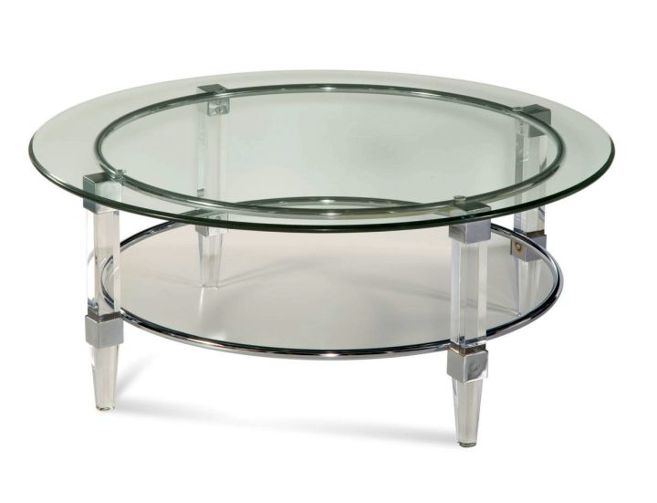 tube like acrylic cocktail table