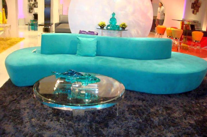 turquoise living room decor contemporary sofa