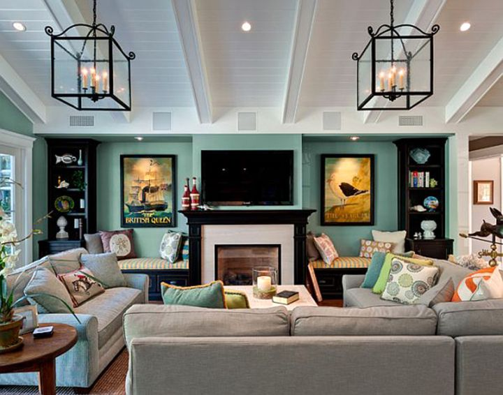 39 Living Room Ideas With Light Brown Sofas Green Blue: 19 Gorgeous Turquoise Living Room Decorations And Designs