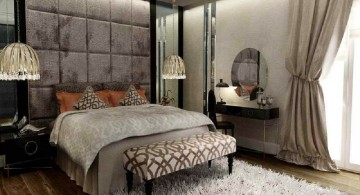 tuscan bedroom furniture in grey themed room