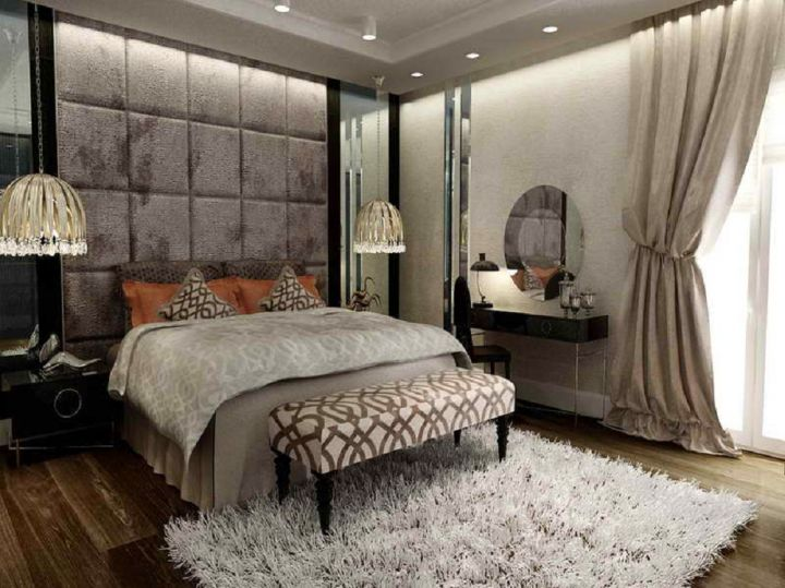 Tuscan bedroom furniture in grey themed room - Grey themed rooms ...