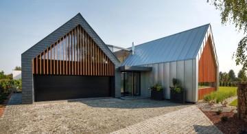 two barn house entrance