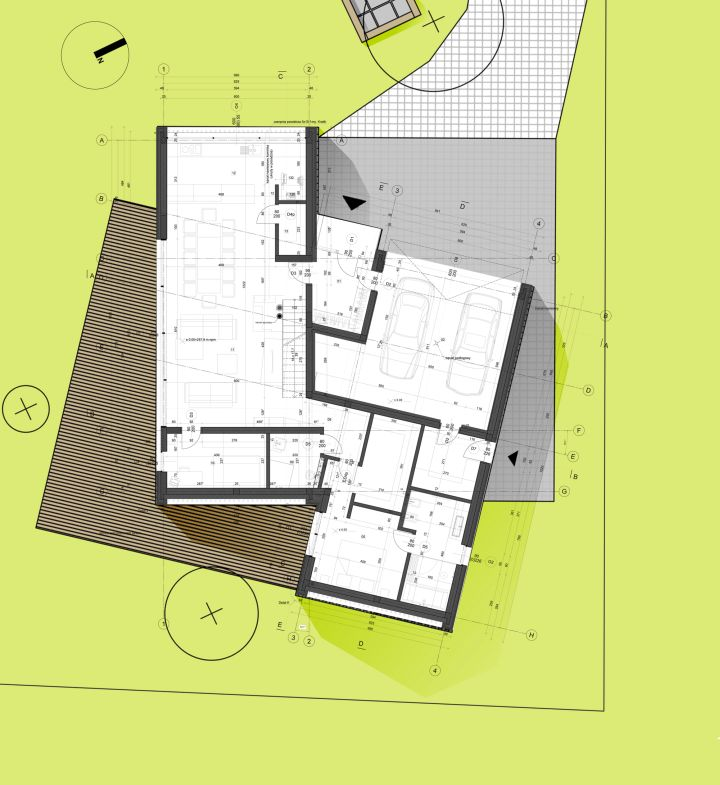 Two barn house ground floor plan Polish house plans