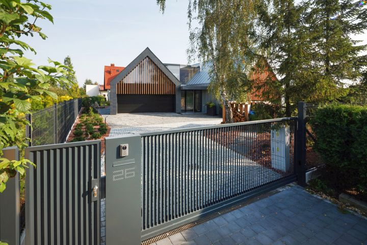 two barn house outside gate