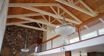 two toned exposed beam ceiling