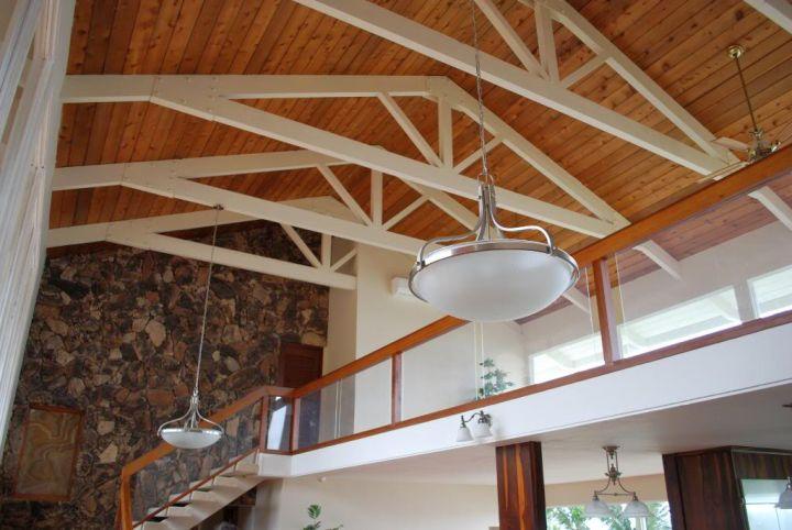 17 Exposed Beam Ceiling Designs in Rustic but Modern Interior - Open Beam Ceiling Lighting