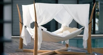 unique X crossed Outdoor swinging beds