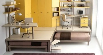 unique desk bed for adults for two