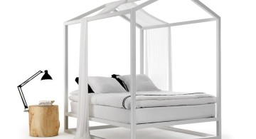 unique framed modern four poster bed