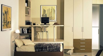 unique minimalist Desk bed combo