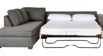 unique sleeper sofa in black
