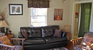 unique sleeper sofa in black vinyl