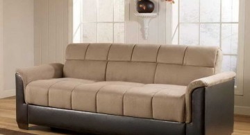 unique sleeper sofa in cream and espresso