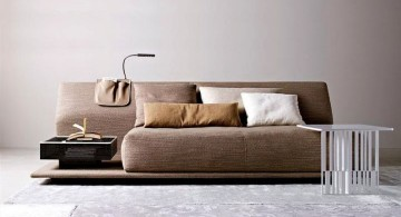 unique sleeper sofa with low coffee table