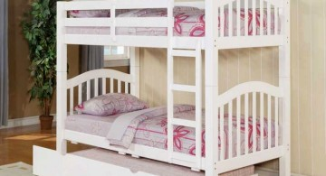 unique trundle beds in white for three