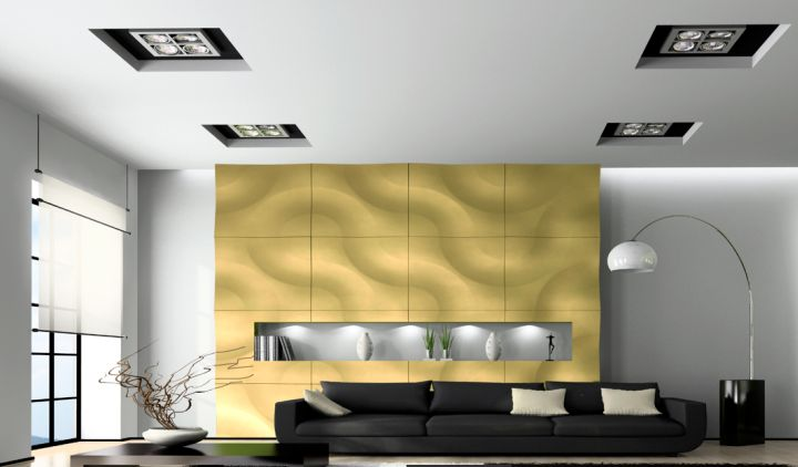 unique wall panels with 3D wave effect