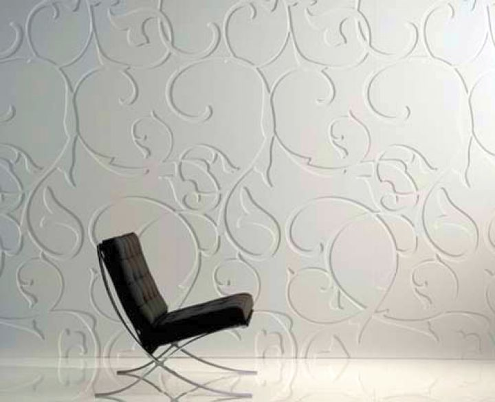 unique wall panels with paisley pattern