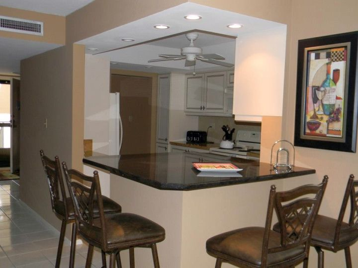 using kitchen island as granite dining room table