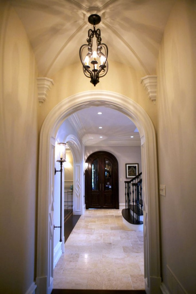vault ceilings for the hallway