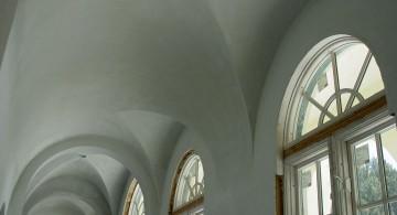 vault ceilings in white
