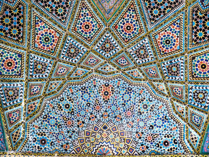 vault ceilings ornated mosque dome