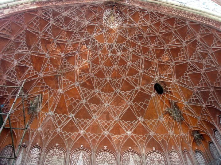 vaulted on Taj Mahal beautiful ceilings
