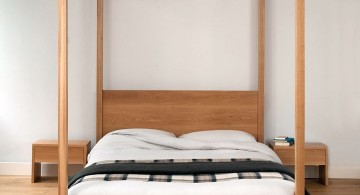 very minimalist modern four poster bed