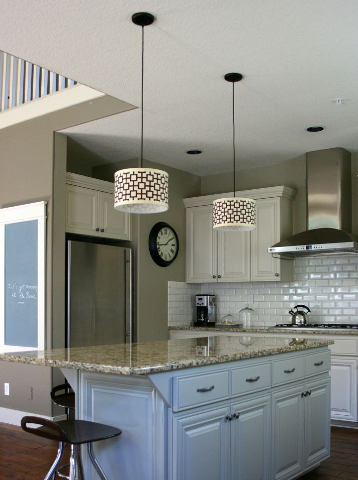 vintage  hanging kitchen light for small apartments