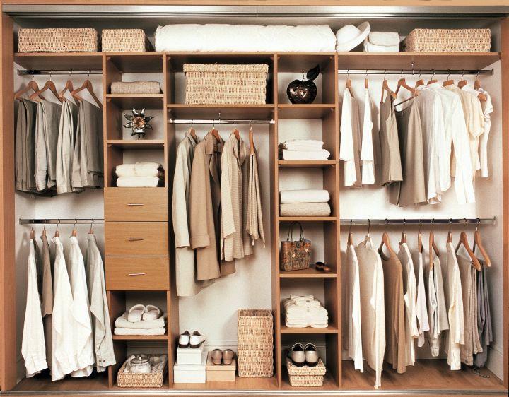 walk in closet furniture in beige