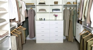 walk in closet furniture in white and grey
