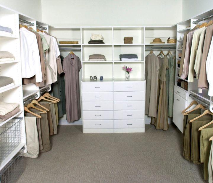 walk in closet furniture in white and grey
