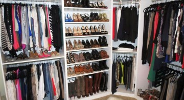 walk in closet furniture with shoe rack