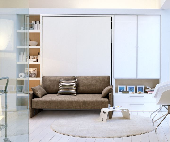 wall bed couch for small apartments